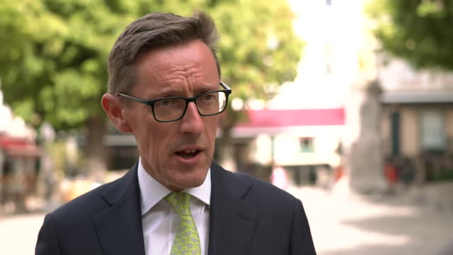 interview senator ian gorst, jersey minister for external affairs, about meeting with french delegation over post brexit dispute over french fishing... - leisure activity stock videos & royalty-free footage