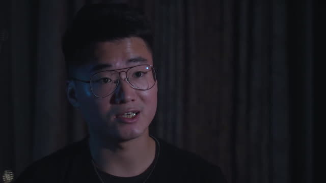 interview simon cheng former uk consulate worker in hong kong detained in china for inciting hong kong's political unrest on behalf of the uk the uk... - torture stock videos & royalty-free footage
