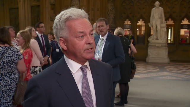 "interview sir alan duncan mp, about boris johnson not defending britain's us ambassador sir kim darroch in leaked email row ""he's basically thrown... - alan duncan stock videos & royalty-free footage"