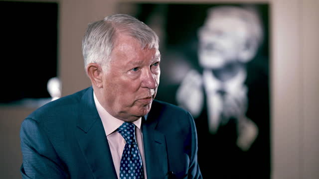 interview sir alex ferguson, former manchester united manager, about the european super league and why it is a bad idea, with every team needing a... - europe stock videos & royalty-free footage