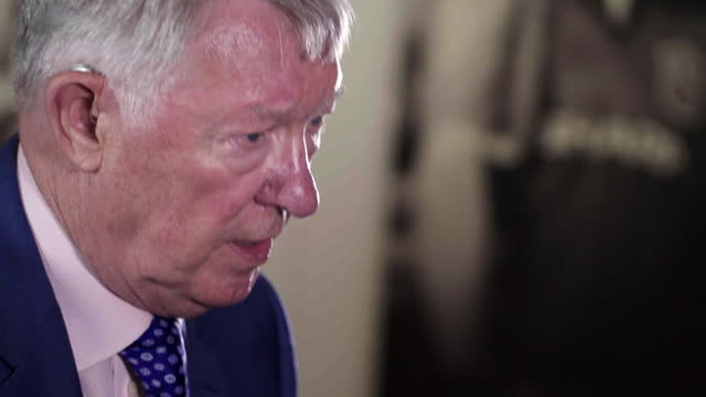 interview sir alex ferguson, former manchester united manager, about still being able to find good football managers, despite the shift to player... - effort stock videos & royalty-free footage