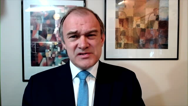 interview sir ed davey, leader liberal democrats, disappointed that there wasn't more support for small businesses and the self employed, in the 2021... - business finance and industry stock videos & royalty-free footage
