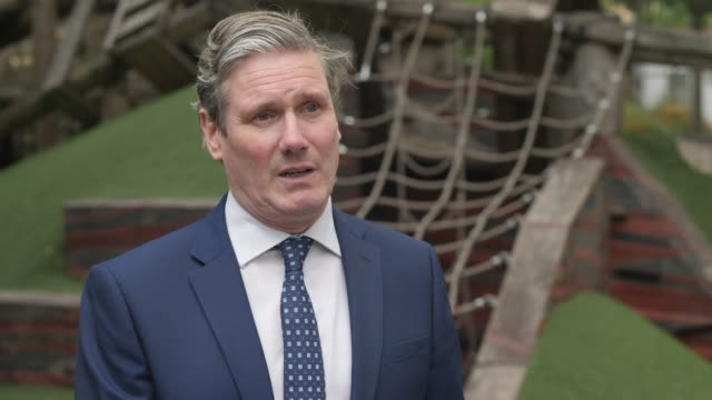 "interview sir keir starmer, labour leader, about investment into rebuilding schools ""this is a good thing but the prime minister needs to be clear on... - rebuilding stock videos & royalty-free footage"