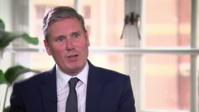 """interview sir keir starmer labour leader about the labour party needing to look at themselves to work out why they keep losing elections - """"bbc news"""" stock videos & royalty-free footage"""