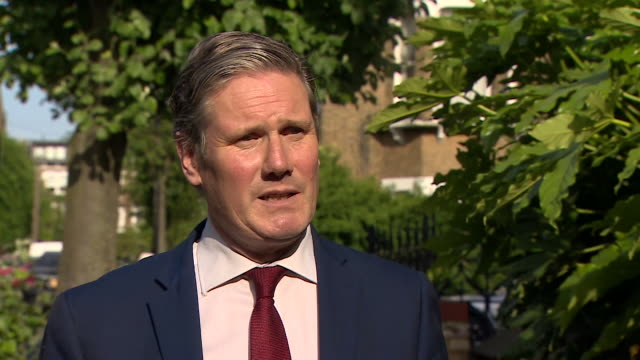 """interview sir keir starmer mp labour leader about government uturn on nhs surcharge for noneu nationals who are health workers i asked the prime... - """"bbc news"""" stock videos & royalty-free footage"""