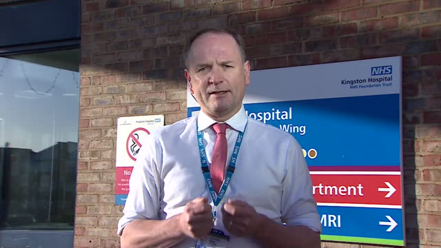 "interview sir simon stevens, ceo nhs england, on andrew marr, about pressures on nhs during coronavirus pandemic ""every 30 seconds in england another... - ""bbc news"" stock videos & royalty-free footage"