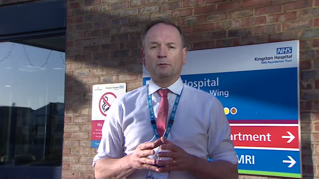"interview sir simon stevens, nhs england ceo, on andrew marr, speaking about target for finishing vaccine rollout and concern about new coronavirus... - ""bbc news"" stock videos & royalty-free footage"