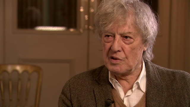 interview sir tom stoppard, playwright, about his jewish and british roots - backgrounds stock videos & royalty-free footage