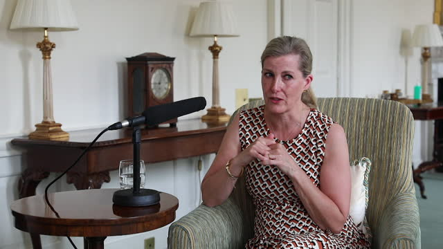 interview sophie, countess of wessex, emotional when speaking about the death of prince philip and memories of spending time with him and the queen... - grief stock videos & royalty-free footage