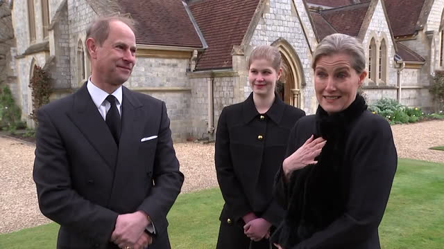 """interview sophie countess of wessex, following death of duke of edinburgh, how people are learning more about him now he has died - """"bbc news"""" stock videos & royalty-free footage"""