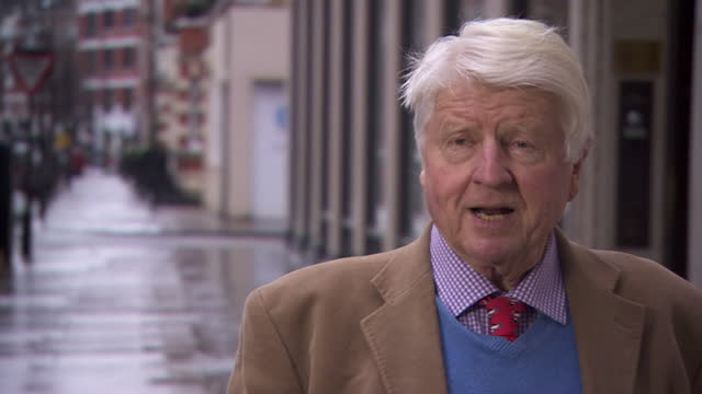 """interview stanley johnson, international ambassador conservative environment network, against plans for a new coal mine in whitehaven, cumbria """"it's... - mining stock videos & royalty-free footage"""