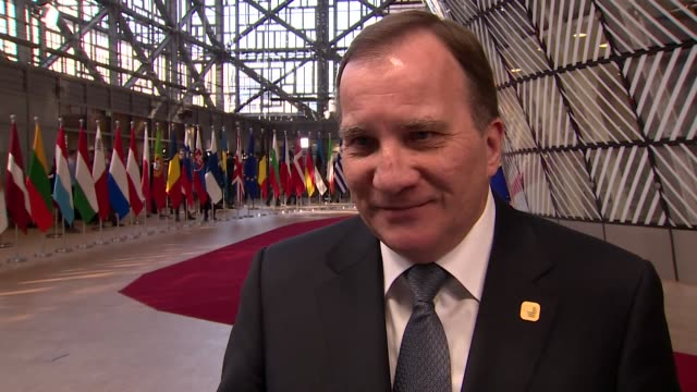 Interview Stefan Lofven Swedish Prime Minister in Brussels about the Brexit extension 'An extension in itself is not a solution It's worth trying but...