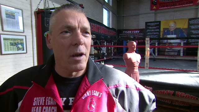 interview steve egan tyson fury's former coach says about tyson fury i'm really proud of him the first day he came to the gym i said to my day... - coach stock videos & royalty-free footage
