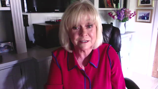 """interview sue barker, former tennis player and broadcaster, about emma raducanu winning us open """"she has potential to be a multiple grand slam winner"""" - north america stock videos & royalty-free footage"""