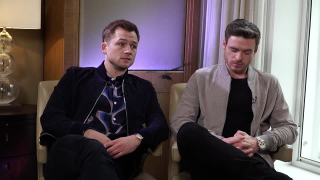 interview taron egerton about elton john biopic rocketman i hope that people are moved and slightly challenged - 伝記映画点の映像素材/bロール