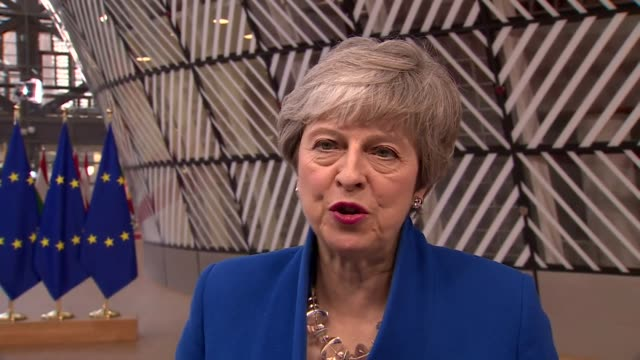 Interview Theresa May PM in Brussels on the day she asked the EU for a further extension to Brexit and Article 50 'We should have left the EU and I...