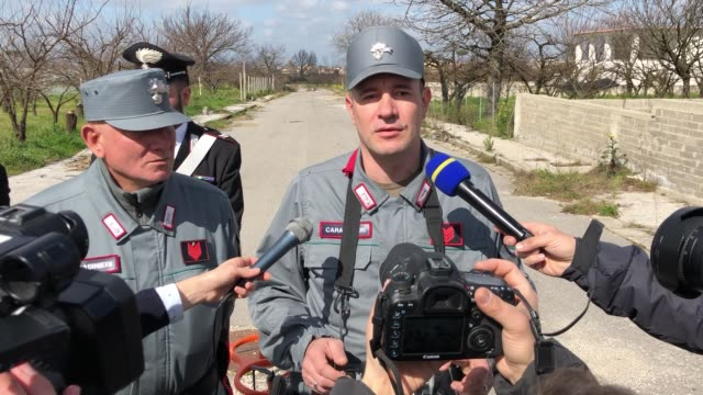 interview to santarelli marco appined of carabinieri and pilot of drone presentation carabinieri's drone for controls on the land of fires naples... - drone pilot stock videos and b-roll footage