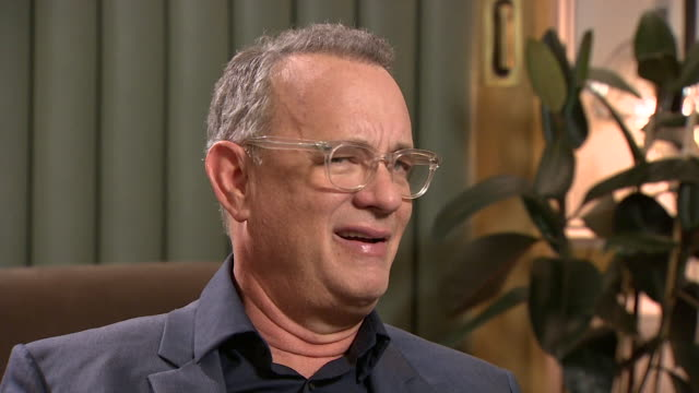 interview tom hanks on what he realised about himself whilst playing mr rogers in a beautiful day in the neighbourhood i'm kinda loud needy i... - individuality stock videos & royalty-free footage