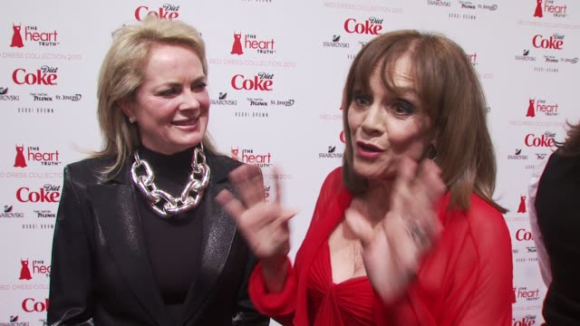 valerie harper and pamela roland talk about teaming up for the heart truth fashion show, valerie harper's new play on broadway and their plans for... - fashion collection stock videos & royalty-free footage