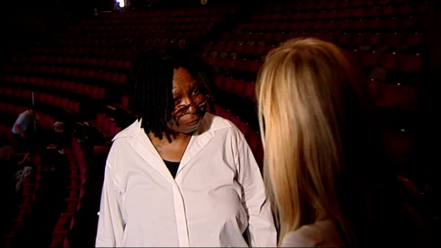 interview whoopi goldberg on sister act whoopi goldberg interview sot just come off stage this is just the second dress rehearsal tonight is first... - full suit stock videos & royalty-free footage
