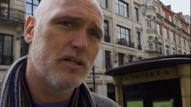 interview with 43yearold tree surgeon ben atkinson before he scaled the scaffolding around big ben as part of the extinction rebellion protests... - blonde hair stock videos & royalty-free footage