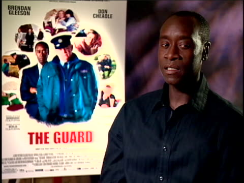 interview with actor don cheadle on his new film the guard sot my character had come to that area of ireland because he believes there's going to be... - music or celebrities or fashion or film industry or film premiere or youth culture or novelty item or vacations stock videos & royalty-free footage