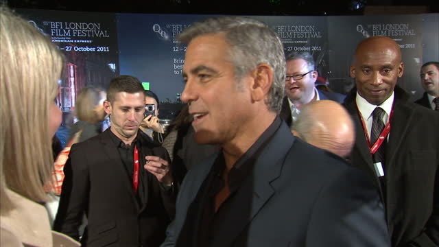 Interview with actor George Clooney at premiere of Ides of March 'I think that will be saturation point'