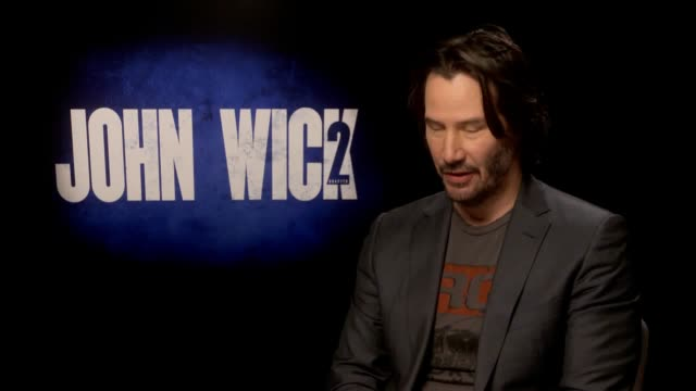 interview with actor keanu reeves ahead of the release of his new film john wick 2. he discusses the reunion with laurence fishbourne, returning to... - keanu reeves stock videos & royalty-free footage