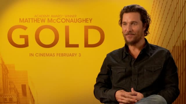interview with actor matthew mcconaughey ahead of the release of new adventure film gold. matthew mcconaughey talks about his character kenny wells,... - matthew mcconaughey stock videos & royalty-free footage