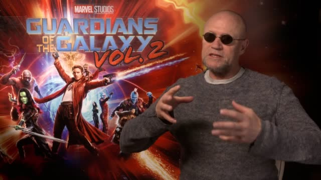 interview with actor michael rooker ahead of the release of new film guardians of the galaxy vol 2 michael rooker talks reuniting with his cast mates... - press release stock videos and b-roll footage