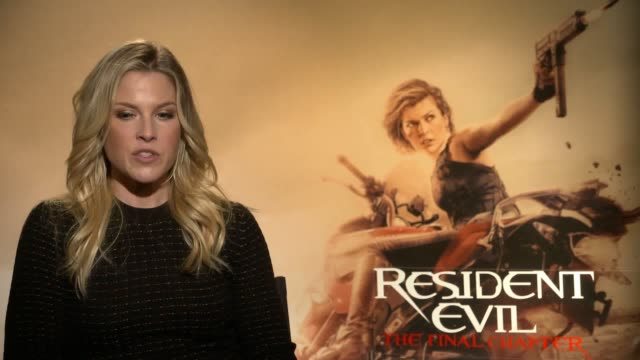 interview with actress ali larter ahead of the release of new thriller resident evil the final chapter - ali larter stock videos and b-roll footage