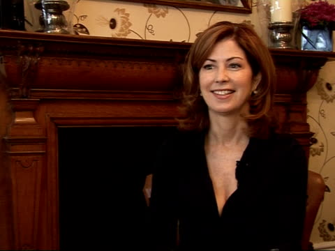 Interview with actress Dana Delany ENGLAND London INT Dana Delany interview SOT On how the last season ended on the TV show 'Desperate Housewives' /...