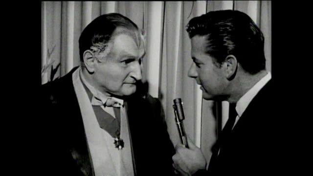 interview with al lewis - grandpa munster - p2 - talks about his previous career teaching children with intellectual disabilities. - television show stock videos & royalty-free footage