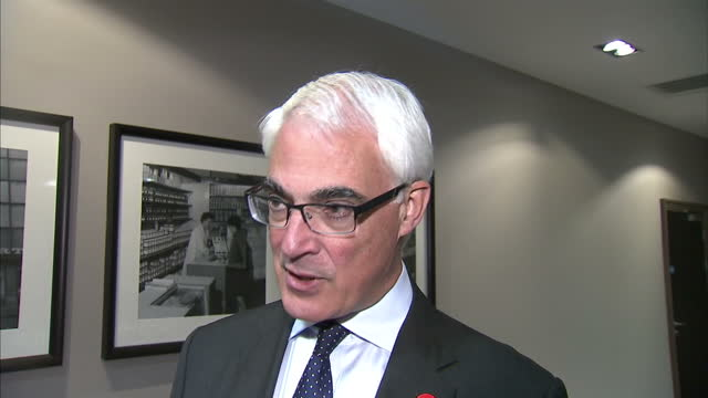 interview with alistair darling labour mp on scottish independence recent polls impact on jobs and economy on september 14 2014 in edinburgh scotland - alistair darling stock videos & royalty-free footage