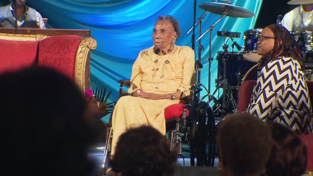 Interview with Amelia Boynton Robinson known as the matriarch of the voting rights movement was beaten tear gassed and left for dead during the...