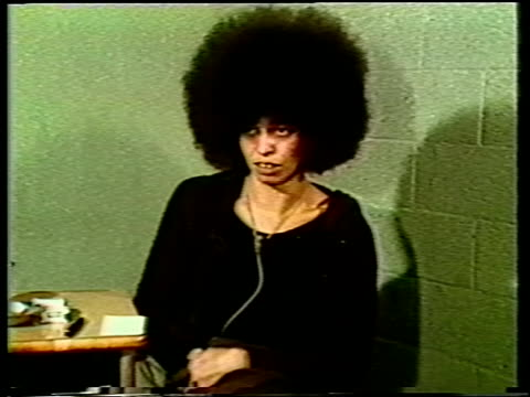 interview with american political activist and author angela davis in prison in marin county jail prison interview with activist angela davis on... - 1971 stock videos & royalty-free footage