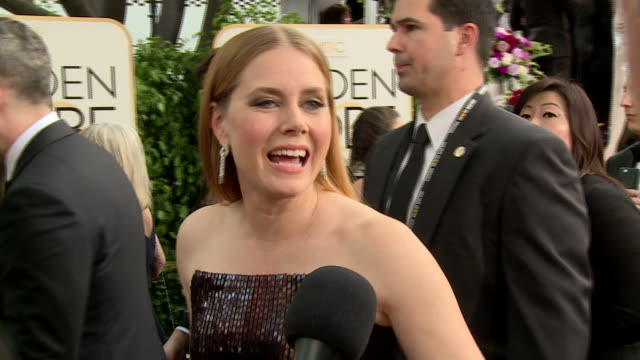 interview with amy adams on the red carpet during the 74th annual golden globe awards - 74th annual academy awards stock videos & royalty-free footage