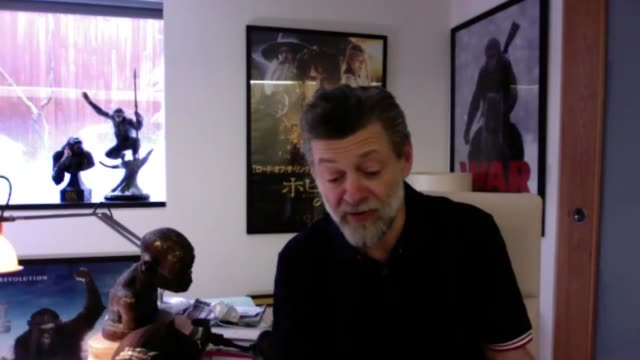 interview with andy serkis as he prepares to revisit his most famous role as gollum for a continuous, live reading of the hobbit – lasting around 12... - infinity stock videos & royalty-free footage