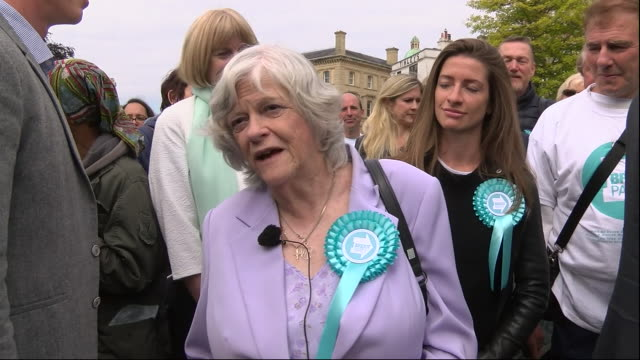 interview with ann widdecombe, while out campaigning for brexit party for european parliament elections, on may 20, in exeter, united kingdom. - ann widdecombe stock videos & royalty-free footage