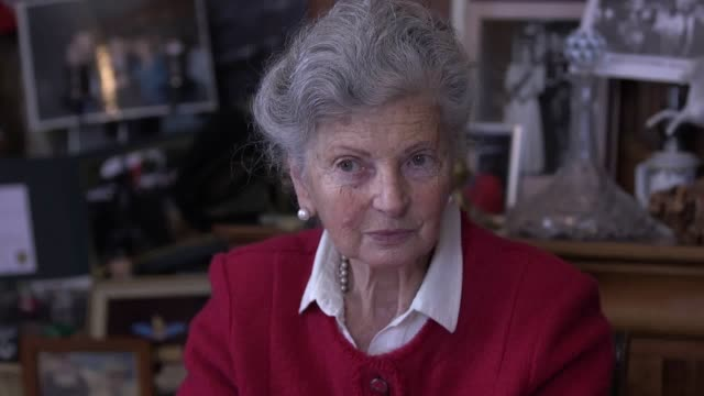 interview with arlette gondree in her cafe next to pegasus bridge, during commemorations for the 75th anniversary of the d-day landings. the famous... - anniversary stock videos & royalty-free footage