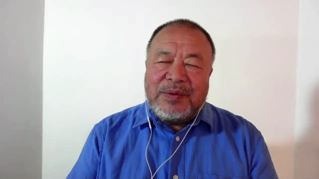 interview with artist and chinese dissident ai wei wei; england: london: gir: int ai wei wei 2-way interview sot - standing out from the crowd stock videos & royalty-free footage