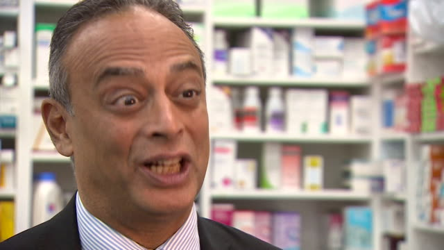 "interview with ash soni, president royal pharmaceutical society, about drug shortages says ""i don't think brexit is the issues, we're too far away.... - brexit stock videos & royalty-free footage"