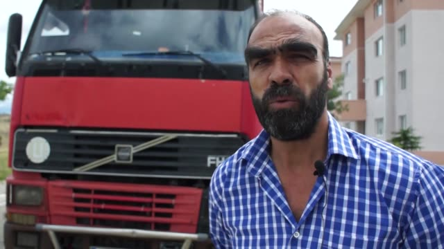 interview with bahattin gurses, a truck driver who lives in the cubuk district of the capital ankara and did not drive his vehicle for 45 days after... - butter fly stock videos & royalty-free footage