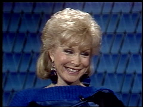 interview with barbara eden barbara eden describes meeting with studio exec on april 17 1984 in new york new york - audio electronics stock videos & royalty-free footage