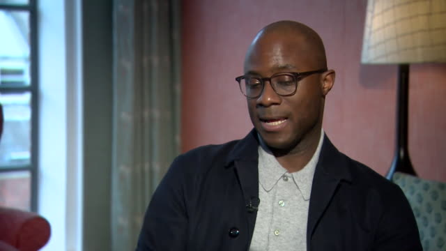 vídeos de stock, filmes e b-roll de interview with barry jenkins director nominated for 3 academy awards for 'if beale street could talk' - if beale street could talk