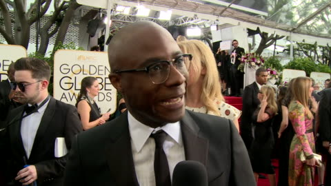 interview with barry jenkins on the red carpet during the 74th annual golden globe awards - 74th annual academy awards stock videos & royalty-free footage