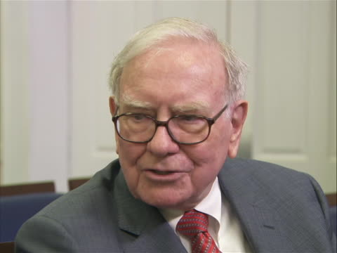 interview with berkshire hathaway chairman warren buffett at the white house on the nations debt ceiling deficit and the looming august 2nd deadline... - august stock videos & royalty-free footage