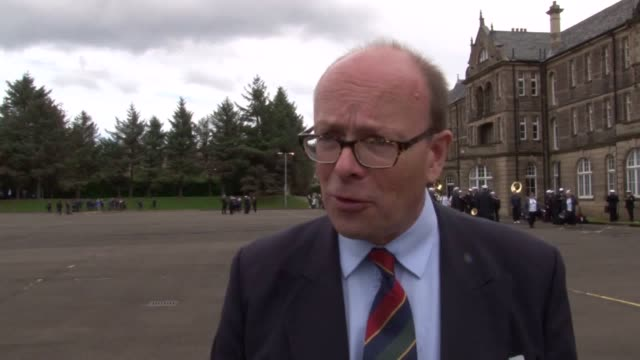 interview with brigadier david allfrey, chief executive and producer of the royal edinburgh military tattoo, as rehearsals for the show step up. mr... - tattoo stock videos & royalty-free footage