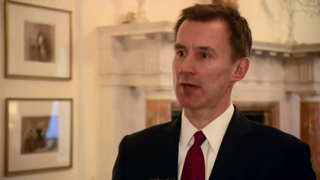 interview with british foreign secretary jeremy hunt mp saying nicolas maduro 'not legitimate leader' of venezuela and reaffirmed the uk government's... - governmental occupation stock videos & royalty-free footage