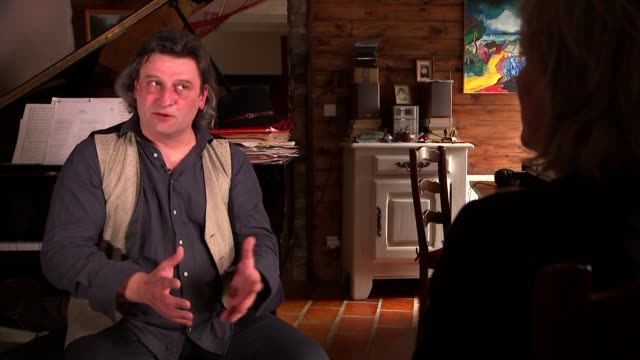 interview with brother of man who died after an experimental drugs trial france rennes int laurent molinet interview sot cutaways reporter - rennes frankreich stock-videos und b-roll-filmmaterial
